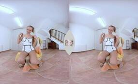 Horny Russian Blonde has fun with toys