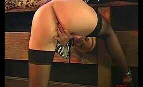 Big tits blonde in stockings hard fucking