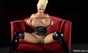 Blonde mistress and her secret fetish