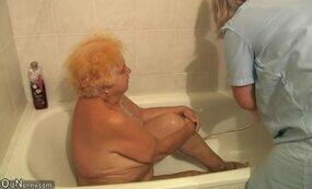 Granny at bath