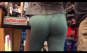 Sexy ass in green leggings tumblr video