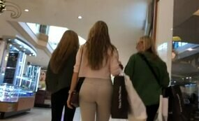 Hot girl in white trousers