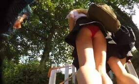 Teen girls upskirt video