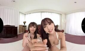FFM threesome POV jav cute asians