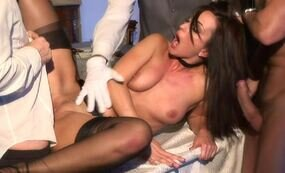Gangbanged hot housekeeper