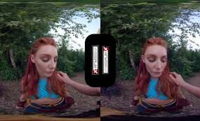 Redhead gamer girl