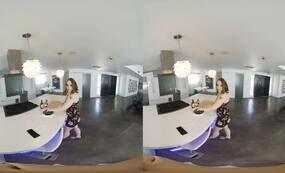 Brunette cocksucker VR Porn