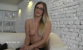 Young secretary before fuck