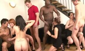 Nasty orgy with one bbc