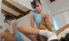 Innocent girl fingering pussy