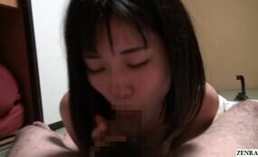 Asian girls sucking balls